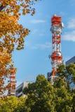 移动电话无线电铁塔 库存照片