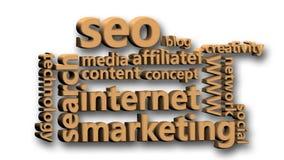 动画价值与互联网行销有关 皇族释放例证