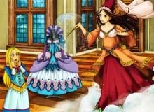 动画片不同的故事的童话场面 库存照片