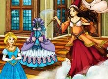 动画片不同的故事的童话场面 免版税图库摄影