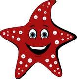 动画片与白色斑点的星鱼 向量例证