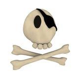 动画片两骨交叉图形头骨 库存例证
