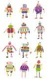 动画片五颜六色的图标机器人 库存图片