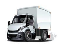 动画片交付或在白色背景隔绝的货物卡车 库存例证