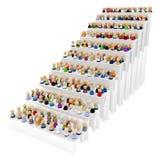 动画片人群台阶步骤 库存照片