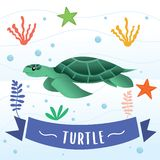 动画片传染媒介乌龟 向量例证