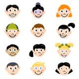 动画片儿童表面 库存例证