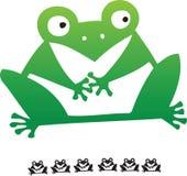 动画片凹道青蛙现有量 免版税图库摄影