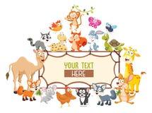 动画片动物的传染媒介例证 免版税库存图片
