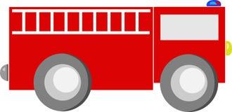 动画片发动机起火红色卡车 免版税图库摄影