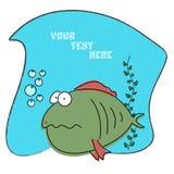 动画片可笑的鱼 免版税库存图片