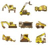 动画片图标卡车 免版税库存照片
