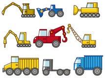 动画片图标卡车 库存图片