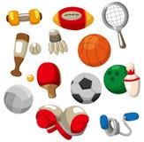 动画片图标反对体育运动 库存图片