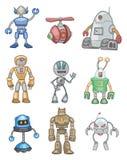 动画片图标机器人 皇族释放例证