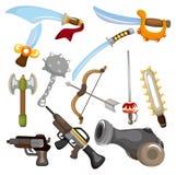 动画片图标武器 库存图片