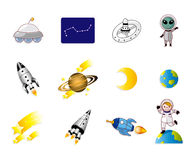 动画片图标空间 库存照片