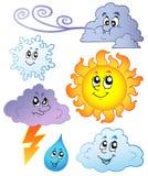 动画片图象天气 向量例证