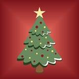 动画片圣诞树 免版税库存照片