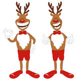 动画片圣诞节驯鹿的向量例证 免版税图库摄影