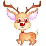 动画片圣诞节驯鹿 免版税库存图片