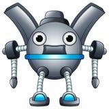 动画片在白色背景隔绝的机器人字符 库存图片