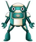 动画片在白色背景隔绝的机器人字符 免版税图库摄影