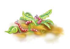 动画片地球蠕虫 库存例证