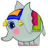 动画片大象滑稽的印地安人 免版税库存图片