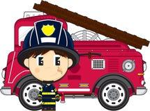 动画片大顶头消防员 免版税图库摄影