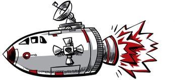 动画片太空飞船 向量例证