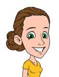 动画片女孩字符画象传染媒介具体化 库存例证