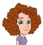 动画片女孩字符画象传染媒介具体化 向量例证