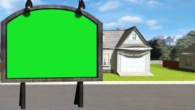 动画片女用连杉衬裤卖房子的房地产经纪商22动画场面  皇族释放例证