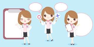 动画片妇女医生 向量例证
