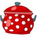动画片家庭厨房罐 库存例证