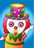 动画片小丑传染媒介 免版税库存照片