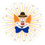 动画片小丑面孔 免版税库存图片