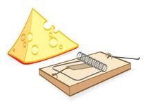 动画片干酪捕鼠器 库存照片