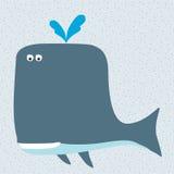 动画片微笑的鲸鱼 免版税库存图片