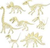 动画片恐龙最基本的汇集集合 向量例证