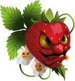 动画片恼怒的草莓 免版税库存图片
