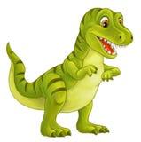 动画片愉快和滑稽的恐龙-暴龙-例证 向量例证