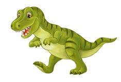 动画片愉快和滑稽的恐龙-暴龙 向量例证
