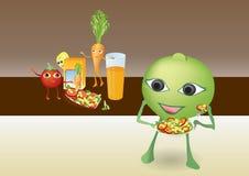 动画片愉快的微笑的蔬菜 免版税库存照片
