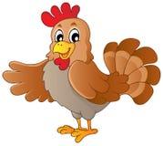 动画片愉快的母鸡 免版税图库摄影