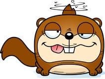 动画片愚蠢的灰鼠 皇族释放例证