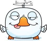 动画片愚蠢的鸭子 向量例证