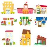 动画片房子图标 免版税库存图片