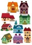 动画片房子图标 免版税库存照片